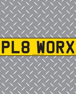 PL8 Worx - 3d Gel Number Plates